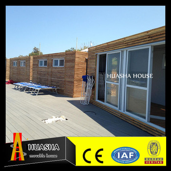 Waterproof luxurious wooden house prefabricated villa