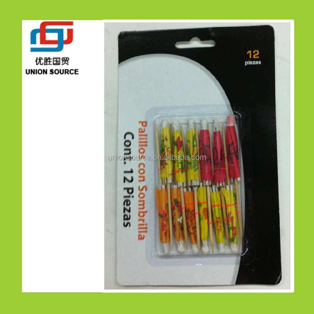 New product Top grade antique decorative party fruit toothpick(CT2015200)