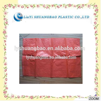 red pp woven bags for packing chemical products for korea market