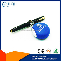 The promotional custom design silicone key chains