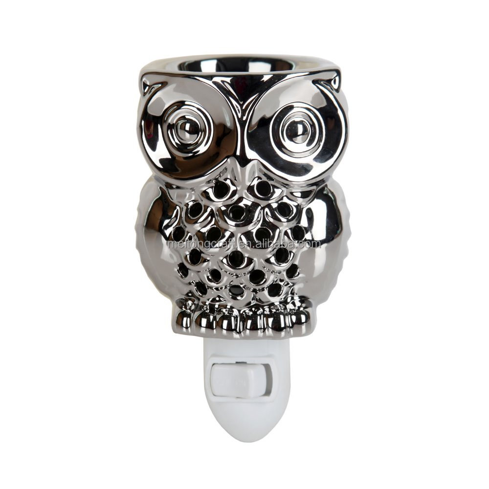 3''*3'' Owl Shaped Metal Electric plug in scented candle wax warmer