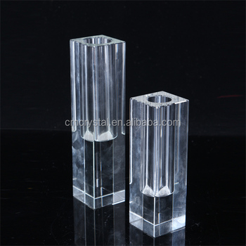 set of 2 crystal vase for wedding table decoration vase