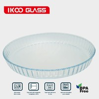 Microwave bakeware glass cake pan