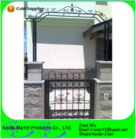 New Design Wrought Iron Main Gate With Arch