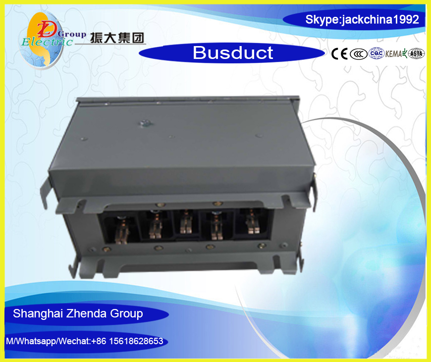 2500A Electric copper and aluminum busbar/bus duct/busway with tap-off box