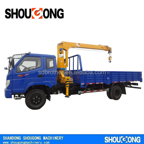 SG 2T right hand drive truck mounted crane with ISO