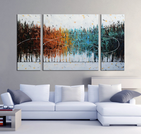 Hot Selling Home Hotel Decoration Art Abstract Landscape Painting On Canvas