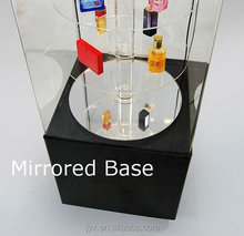 fashion mirrored base acrylic perfume display/rotating display stand
