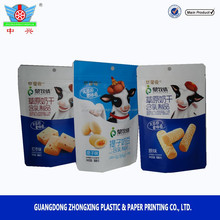 Aluminum resealable stand up zipper yogurt plastic candy packaging bag