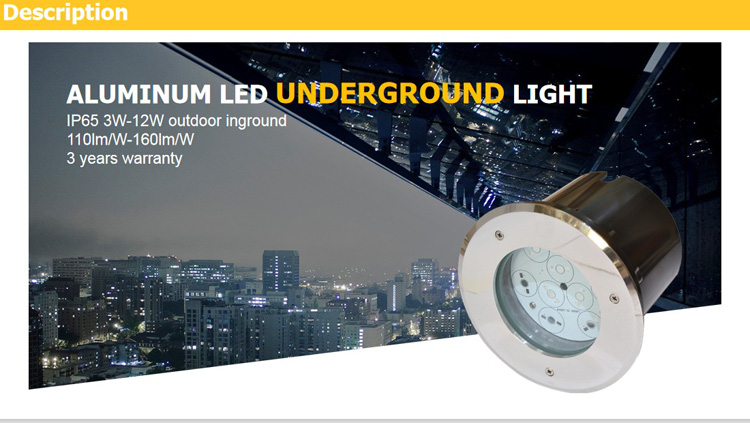 LED Outdoor Recessed Spotlight Waterproof IP67 RGB Color 6W LED Deck Stair  Light underground lamp