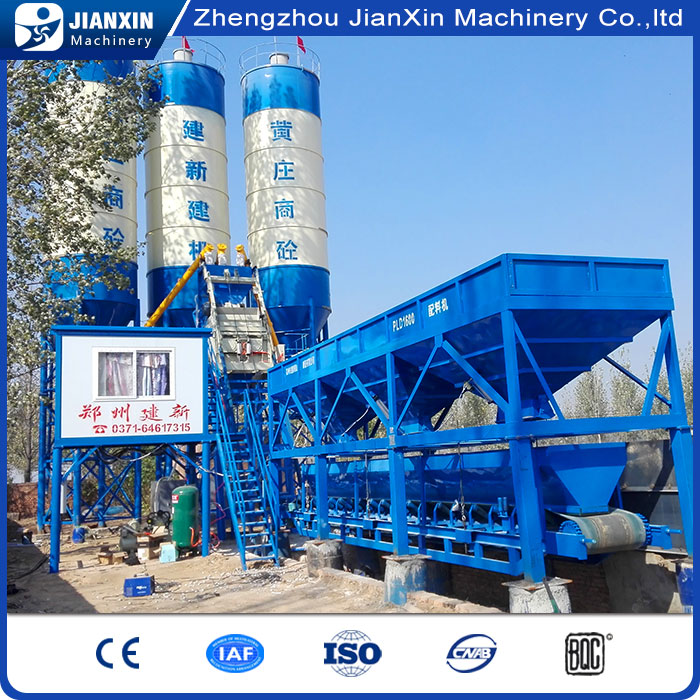 Professional design mixer concrete batching plant hzs50