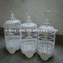 New arrival large white handmade bamboo bird cage