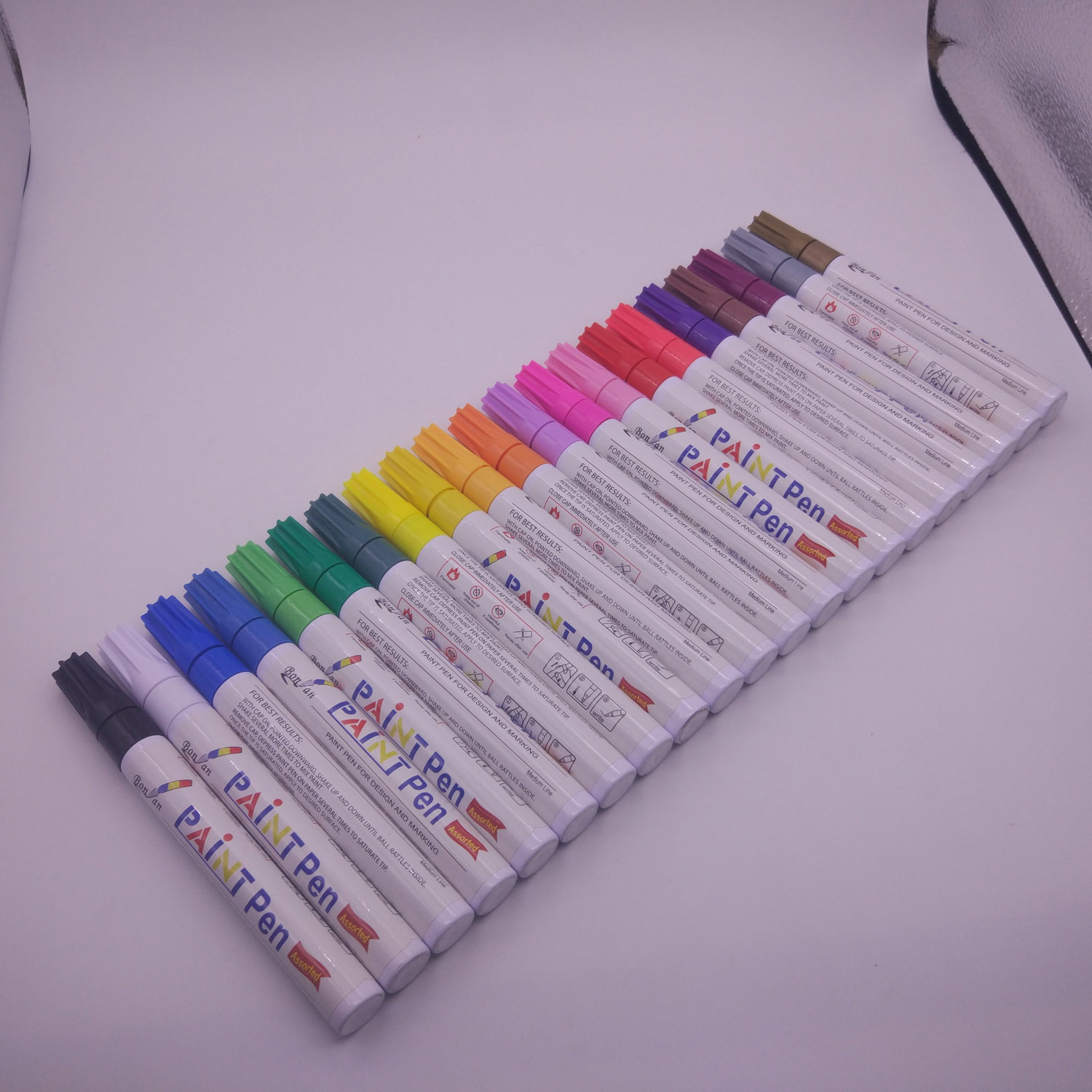 21 pcs Paint pens for Rock stone  Painting - Wood, Glass, Metal and Ceramic Works on Almost All Surfaces
