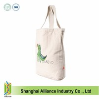 New style blank canvas custom printed canvas tote bags wholesale