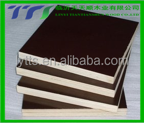 black film face plywood 15mm renewed core/finger jointed poplar/combi core film faced Plywood