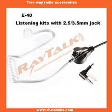 Two Way Radio with 2.5mm jack listen only Acoustic Tube Earpiece