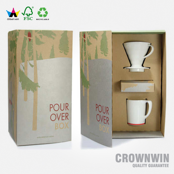 2017 New Special Corrugated Tea Cup Paper Box Gift