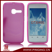 tpu mobile phone cover for alcatel tribe ot3040g