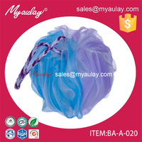 2015 new colorful shower pouf factory beautiful natural LDPE BA-A-020