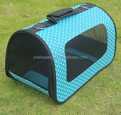 High quality tote pet travel carrier bag with classic dot pattern
