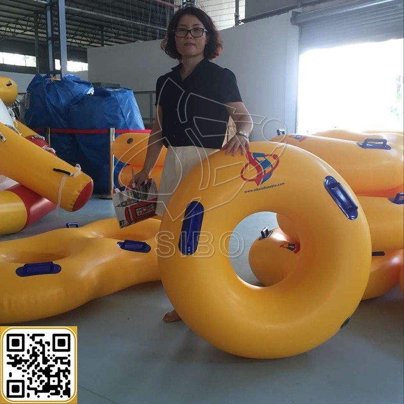 GMIF inflatable adult swim ring inflatable jump exercise boat equipment with handles in China