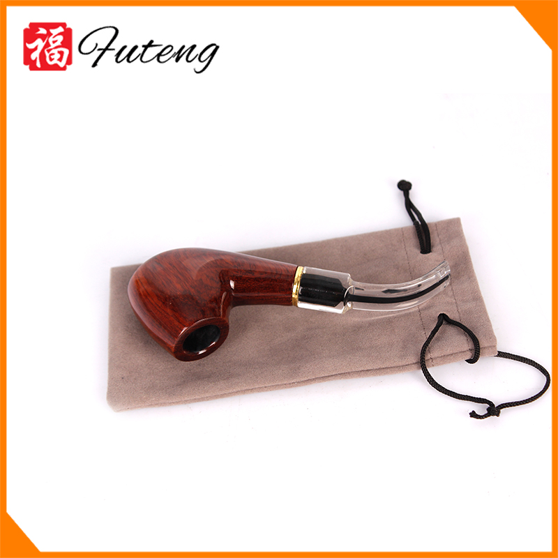 FT1461 Yi Wu Futeng Pipe Bend White Tail Wood Smoking Pipes Tobacco Wholesale