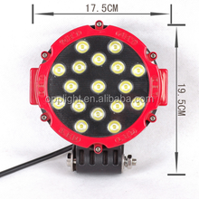 "Imported Lens IP68 7"" inch headlights 51w high power led work light for jeeps"