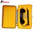 industrial telephone ip66/IP67 waterproof grade KNTECH SP01 yellow color sos phone