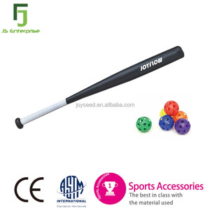 Customized Kids Wooden Look Black Plastic Baseball Bat
