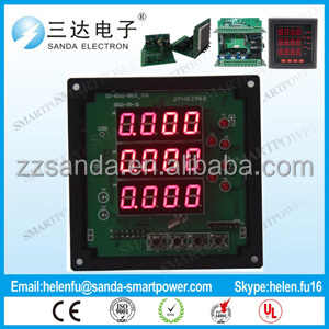 CE certified SANDA 3 Phases ampere meter connecting USB by rs485