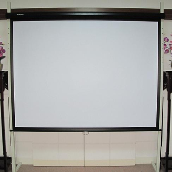 "16:9 84"" Glass Beaded Multimedia Clear Manual Projector Screen for Commercial Used"