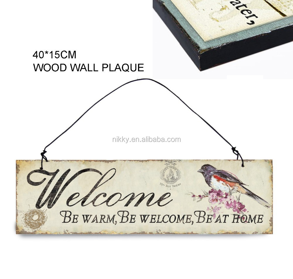 Antique Wood Craft Signs& Welcome Wooden Signs With