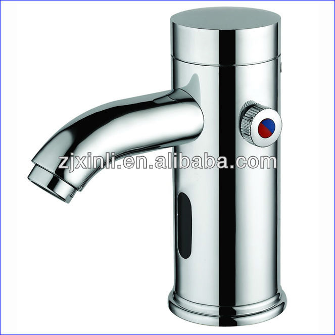 X7121B1 Deck Mounted Luxury Brass Automatic Shut Off Hot & Cold Water Mixer