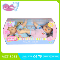 2015 lovely twins soft body baby doll(two dolls)