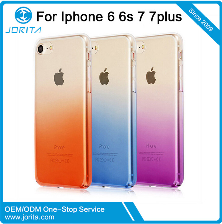 For Apple iPhone 7 Electroplated Gradient PC Mobile Phone Cases