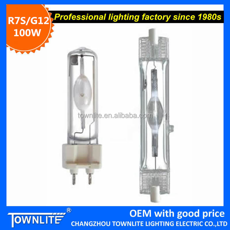 """Townlite""High Quality Good Selling Double Ended 100w Rx7s Metal Halide Lamp"