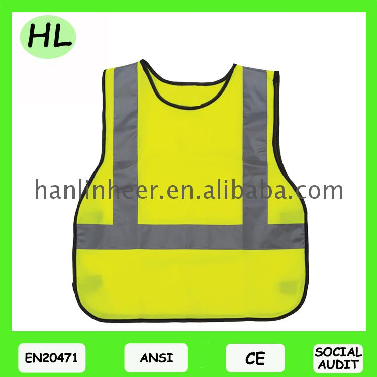 Good quality reflective cartoon children safety vest for outdoor warning