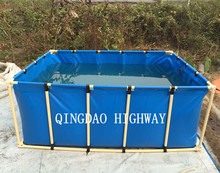 PVC tarpaulin circle or rectangular large plastic water containers or tank