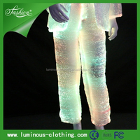 Luminous gay club wear pant light up party wear for boys men party wear