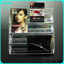 Custom Design Desktop clear acrylic document display stand holder for office stationery