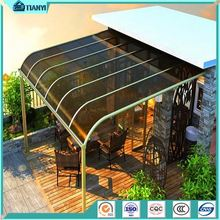 support UV Rain Protection anti rust diy utdoor decorative cheap plastic polycarbonate aluminum frame window awning