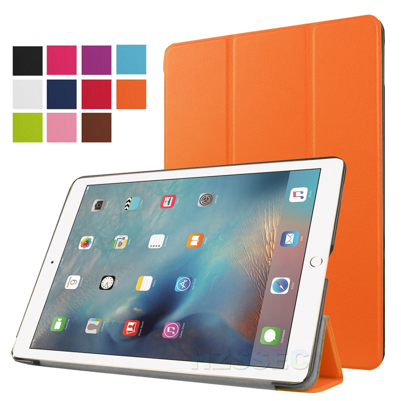Genuine Leather Flip Cover for ipad pro 9.7 inch silicone tablet stand case