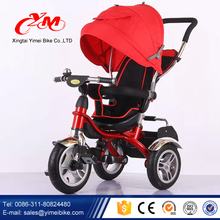 Europe standard new design models baby tricycle with back seat/ cheap price tricycle baby / 4 in 1 Luxury Kids Trike
