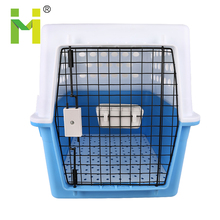 Blue plastic removable designer pet carrier airline approved pet carriers