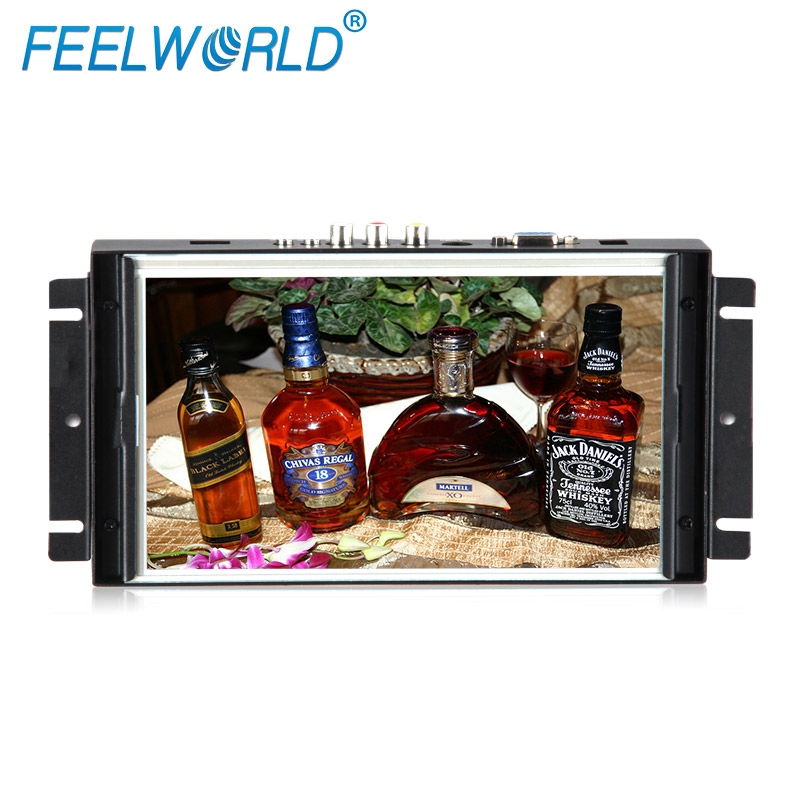 800x480 pixels 8 inch <strong>16</strong>:9 HDMI VGA DVI Ypbpr input metal open frame touch lcd monitors