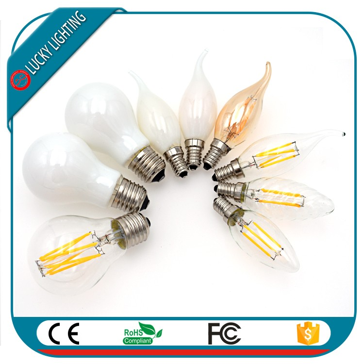 ul dlc saa ce pse E27 E26 B22 E12 E14 led bulb filament Super bright 150Lm/W 2W 4W 6W 8W A19 A60 dimmable led filament bulb