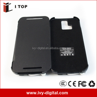 3800mAh Flip Cover Extended Battery Case Charger for HTC ONe M8 (HE013-2)