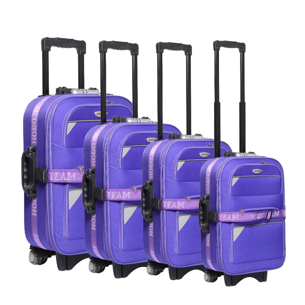 1200d polyester /eva trolley luggage