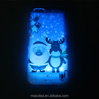 Christmas New style TPU Cases with Colorful Lightings for Iphone and Samsung