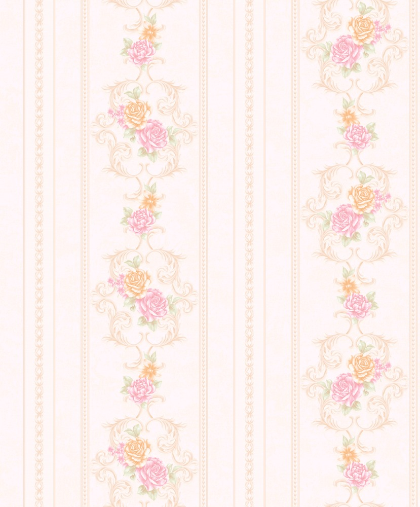 interior wallcovering washable 53cm pvc materials rose flower home decoration wallpaper